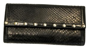 Gucci Python leather stude long wallet