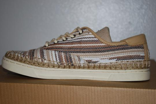 UGG Australia Mexican Blanket Woven Striped Rubber Sole Wool Lining Chestnut Flats Image 1