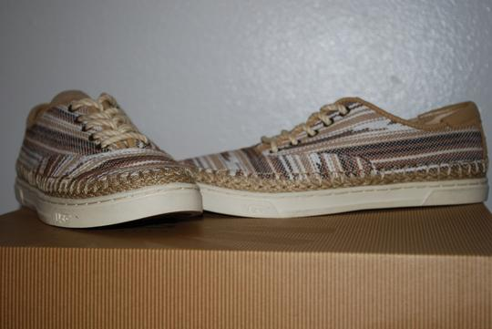 UGG Australia Mexican Blanket Woven Striped Rubber Sole Wool Lining Chestnut Flats Image 2