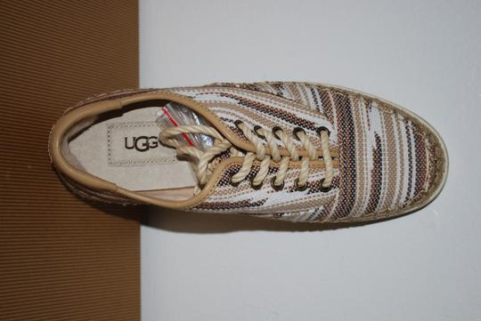 UGG Australia Mexican Blanket Woven Striped Rubber Sole Wool Lining Chestnut Flats Image 3