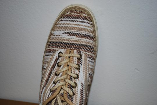 UGG Australia Mexican Blanket Woven Striped Rubber Sole Wool Lining Chestnut Flats Image 4