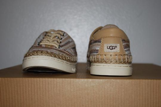 UGG Australia Mexican Blanket Woven Striped Rubber Sole Wool Lining Chestnut Flats Image 5