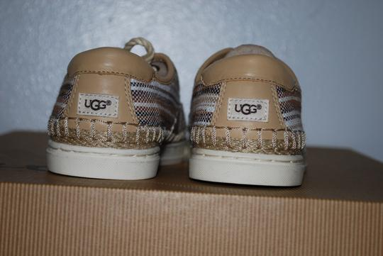 UGG Australia Mexican Blanket Woven Striped Rubber Sole Wool Lining Chestnut Flats Image 6