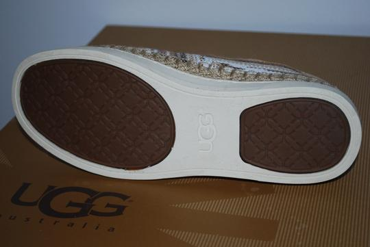 UGG Australia Mexican Blanket Woven Striped Rubber Sole Wool Lining Chestnut Flats Image 7