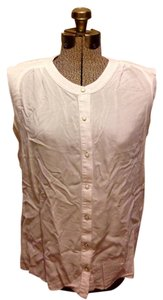 Attention Sleeveless Button Down Top