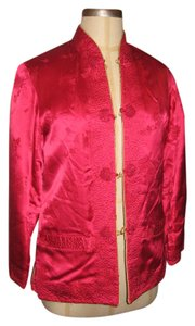 Other Silk Reversible Dryclean Only Embroidered Red on one side Gold on the other Jacket