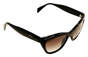 Prada SPR02Q black frame cat eyes sunglasses