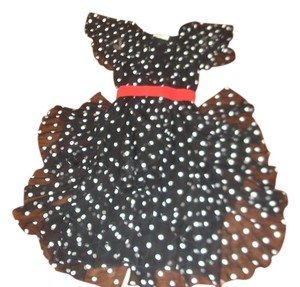Michael Maiello for Pat Richards Sheer Polka Dot Polyester Made In The Usa Of Ruffles Dress