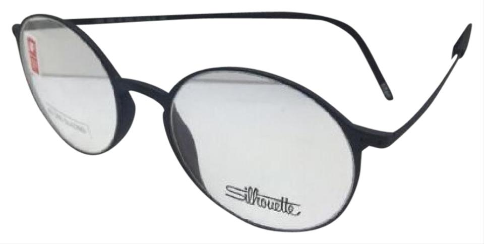 Silhouettes New Spx 2901 40 6050 47-18 14 Matte Black Round Frame ...