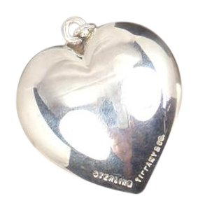 Tiffany & Co. Vintage Tiffany & Co Sterling Silver Large 29mm Puffed Heart Pendant