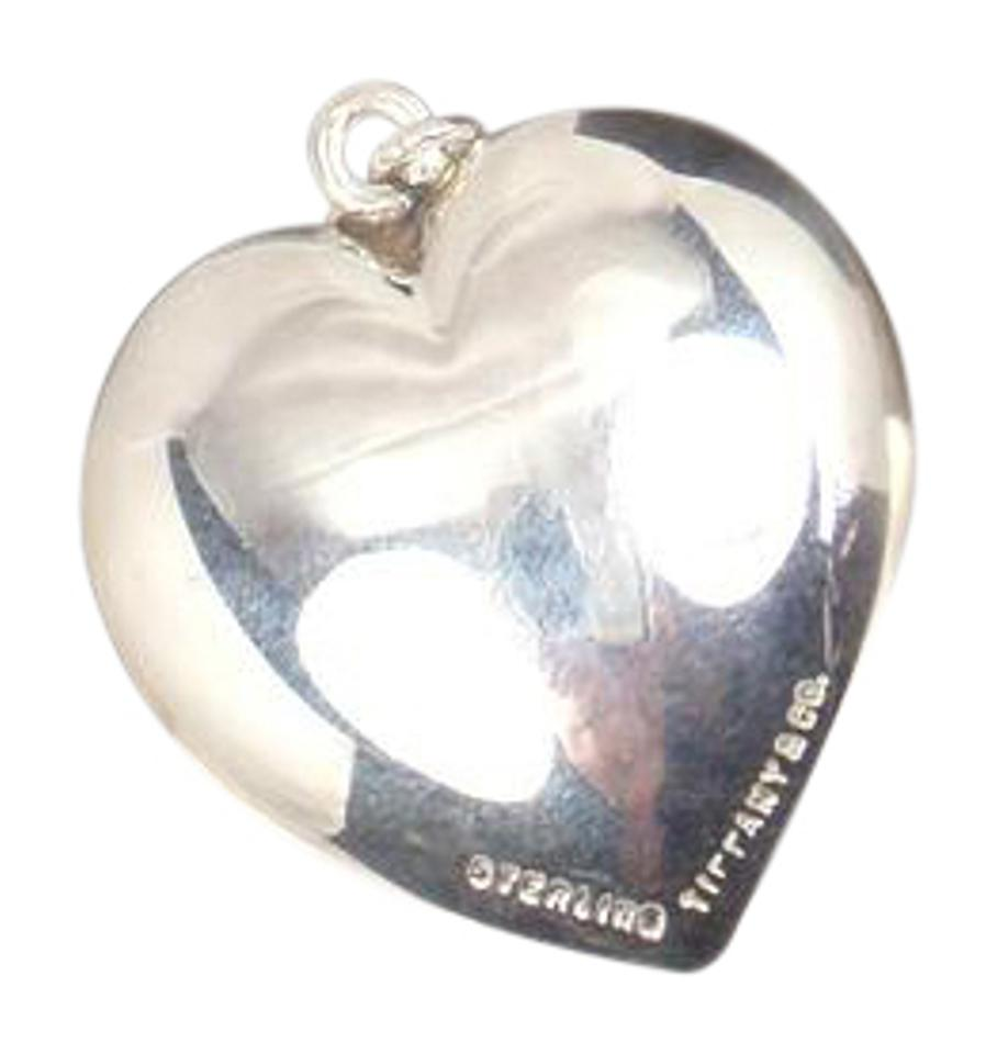 Tiffany co vintage sterling silver large 29mm puffed heart vintage sterling silver large 29mm puffed heart pendant aloadofball Images