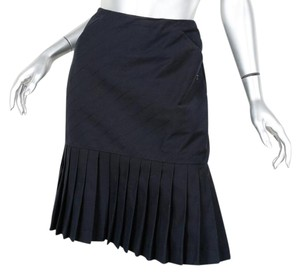 Chanel Pleated Pencil Skirt BLACK