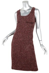 Chanel 02a Wool Boucle Tweed Dress