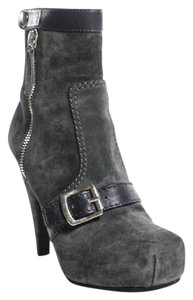 Proenza Schouler Suede Boho Platform Ankle Gray Boots