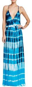 Blue Multi Maxi Dress by Young Fabulous & Broke