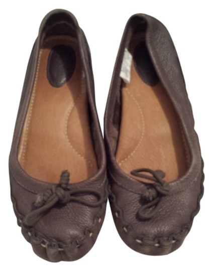 Fossil Leather taupe Flats