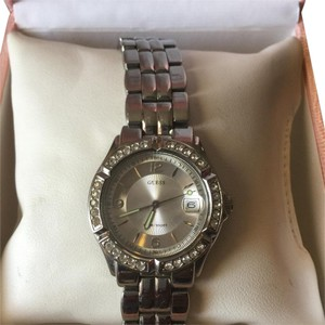 Guess Guess silver watch rhinestone face