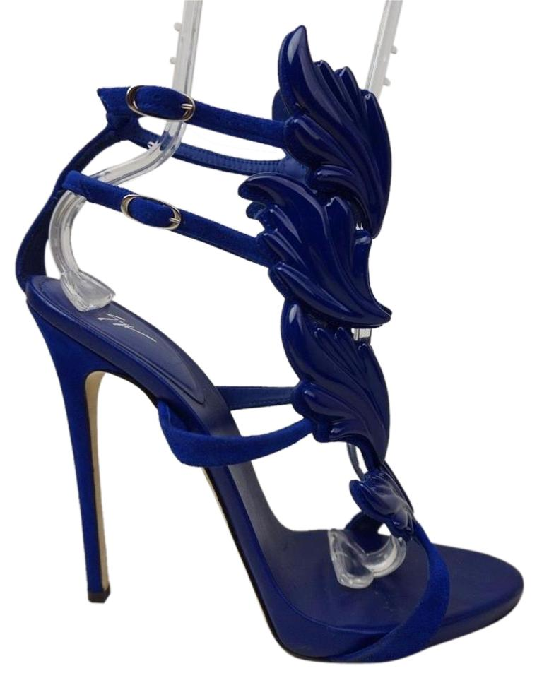 Giuseppe Zanotti Blue Cruel Summer Sandals Coline Winged Heels Sandals Summer ee95d9