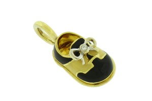 Aaron Basha AARON BASHA P150 Classic saddle diamond shoe pendant / charm in 18k