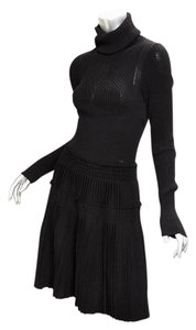 Chanel 08a Ribbed Pleated Knit Dress