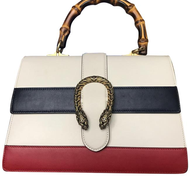 Gucci Top Handle Dionysus * Leather White with Red Shoulder Bag Gucci Top Handle Dionysus * Leather White with Red Shoulder Bag Image 1