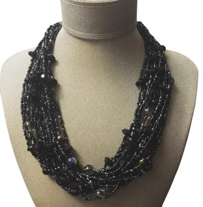 Other Black Seed Beaded Necklace