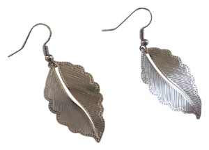 Neiman Marcus Fern Leaf feather Sterling silver Earrings