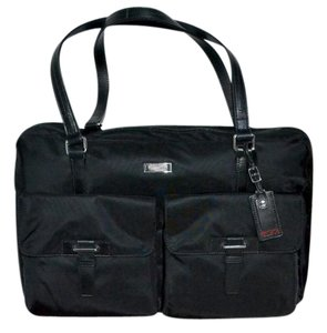 Tumi Voyageur Carry On Carry All Ballistic Black Travel Bag