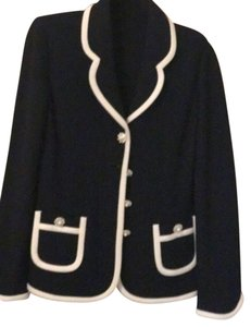 St. John Top Navy and White