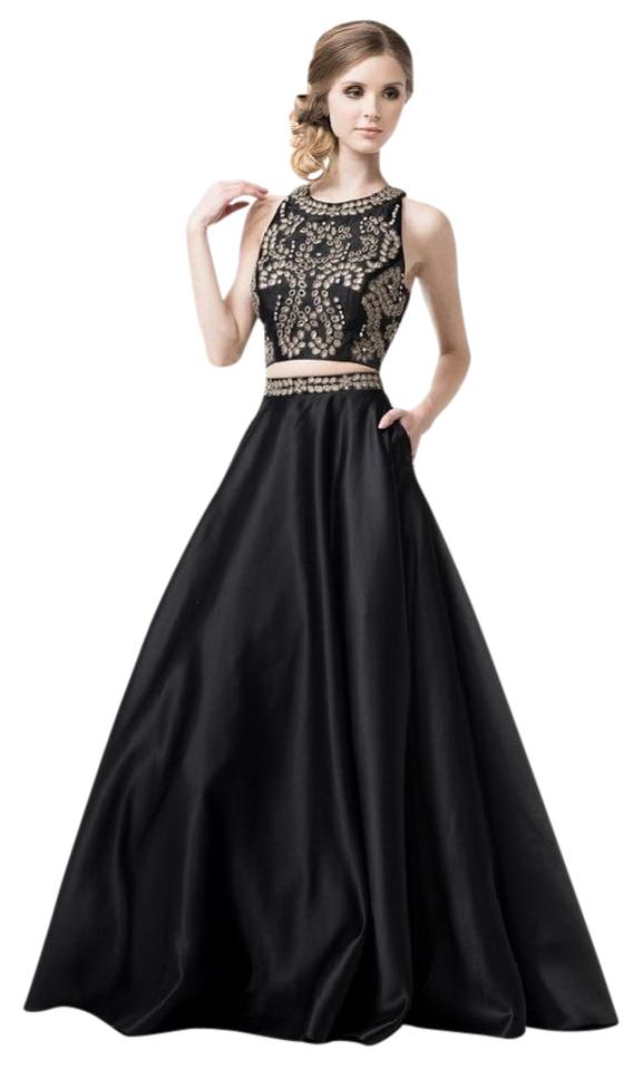 Black #yd5445 Evening Gowns Long Formal Dress Size 6 (S) - Tradesy