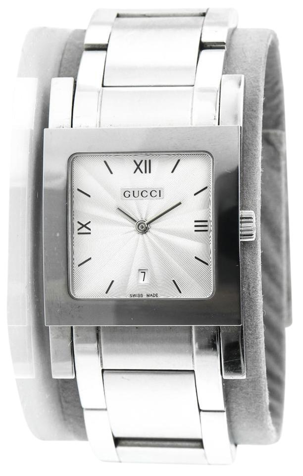 Gucci Stainless Steel Square Face Bracelet Watch