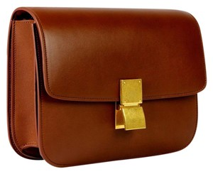 Cline Box Leather Handbag Cross Body Bag