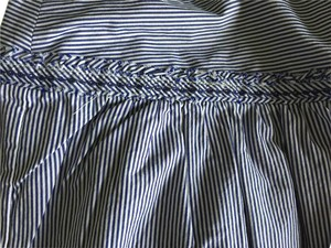 American Eagle Outfitters Skirt White/Blue Striped