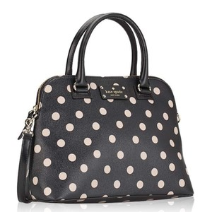 Kate Spade Domed Structured Adjustable Strap Polka Dot Cross Body Bag