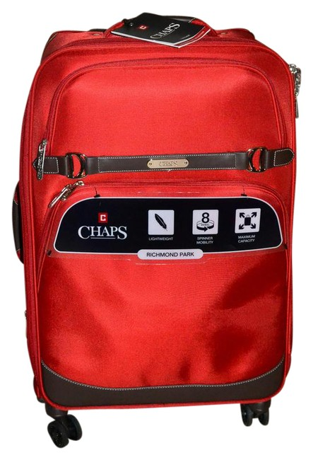 Item - Carry On 21 In Luggage-travel with Style Lake House Red Nylon W Faux Leather Trim Weekend/Travel Bag