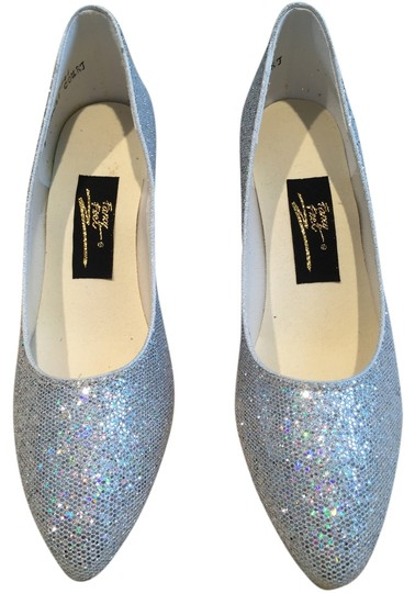 Fancy Shoes Pumps Performance Wedding Iridescent Silver Formal