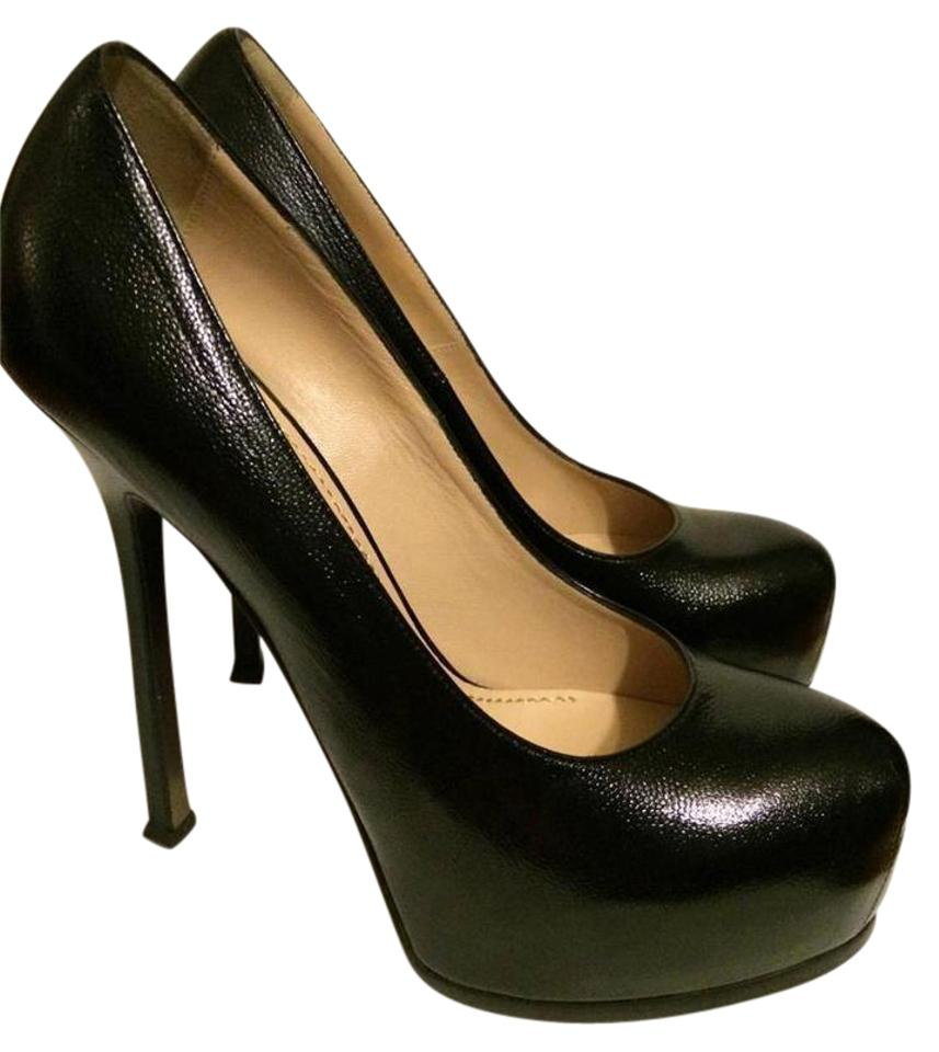 f6bac3ab63b Saint Laurent Ysl Platform Tribtoo Heels Tribute Black Pumps Image 0 ...