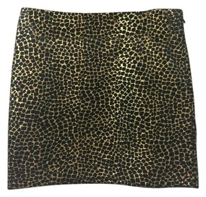 Diane von Furstenberg Dvf Mini Skirt Black, gold