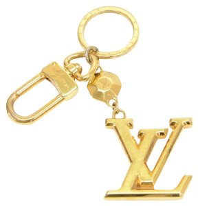 Louis Vuitton Louis Vuitton Facettes Gold Tone Key Chain/ Bag Charm LM729