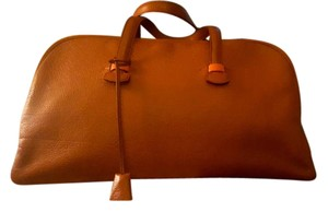 Hermès Exclusive Oversized Leather Brown Travel Bag