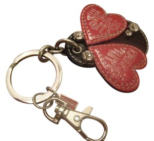 Coach AdoRaBle Poppy Ladybug Key Fob Key Chain Bag Charm SPINNER