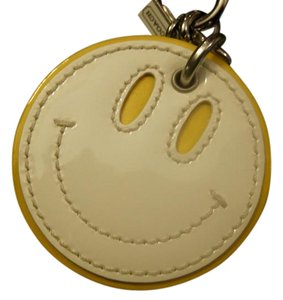 Coach Smiley Face Happy Face Key Fob Keychain Ring CHARM