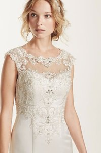 Illusion Back And Neckline Wedding Dress