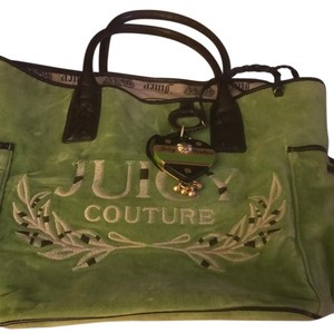 Juicy Couture Tote in Green with Brown handles and accents