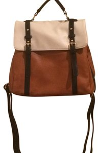 Modcloth Satchel in white, brown, black straps