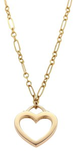 Tiffany & Co. #19137 Tiffany & Co. Heart Pendant & Chain in 18k Two Tone Gold
