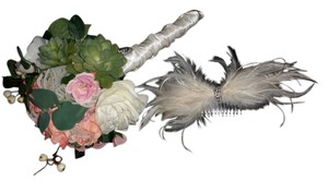 Custom-Made Custom feather fascinator hairipiece, bridal hairpiece, great gatsby,