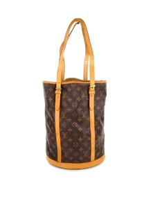 Louis Vuitton Leather Bucket Shoulder Bag