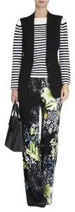 BCBGMAXAZRIA Wide Leg Pants Black Printed