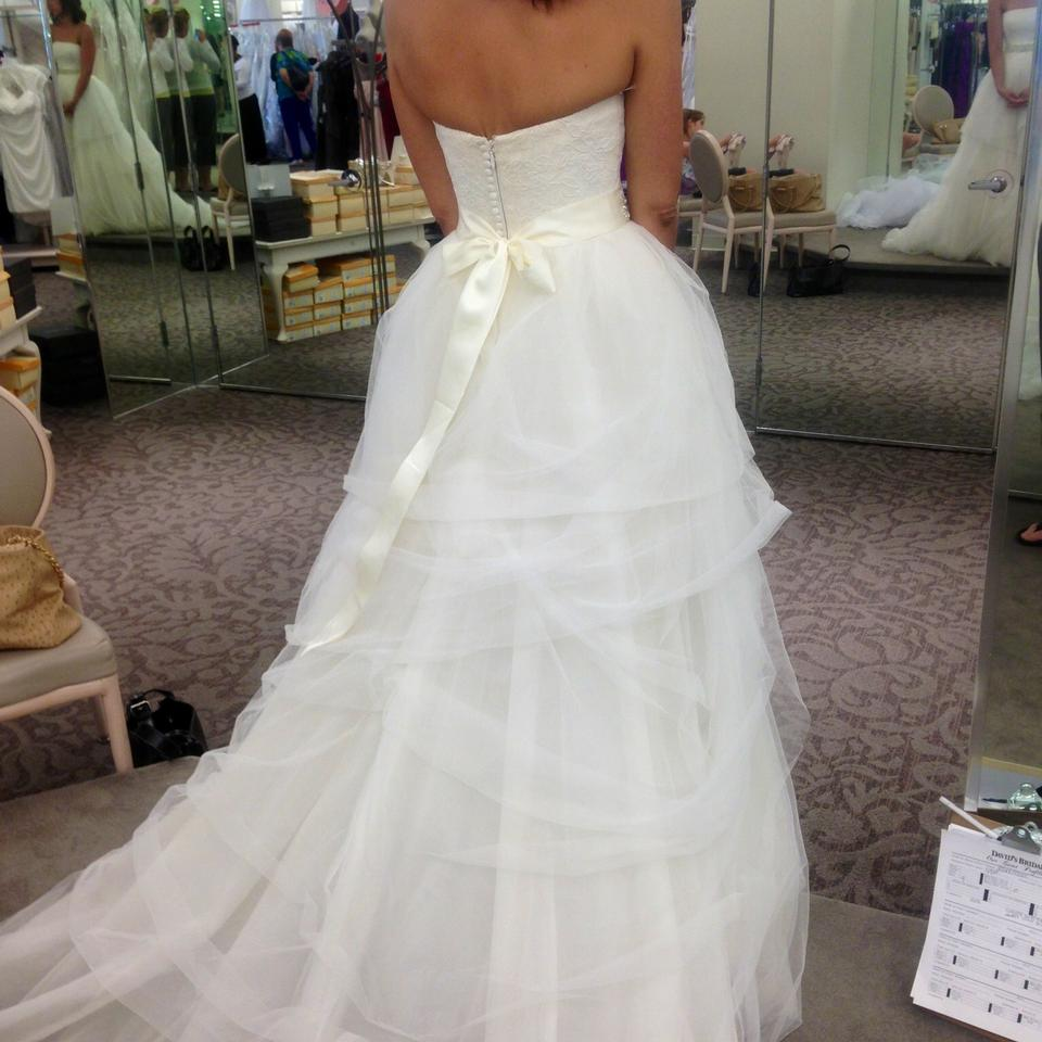 646d27cc81d91 Vera Wang Ivory French Lace Bodice with Tulle Skirt and Grosgrain ...
